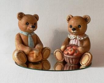 Vintage 80's Porcelain Homco Bears