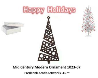 1023-7 Mid Century Modern Christmas Ornament