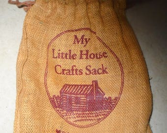 Drawstring Craft Sack - Little House on the Prarie
