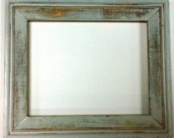 "1-3/4"" White Distressed Picture Frame"