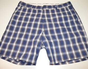 80s Higear Plaid Golf Shorts Size 34
