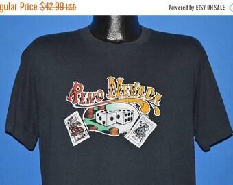 ON SALE 80s Reno Nevada Black Jack Craps t-shirt Extra Large