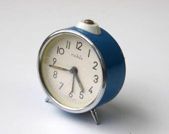 Ruhla - Vintage Mechanical Alarm Clock - Made in Germany