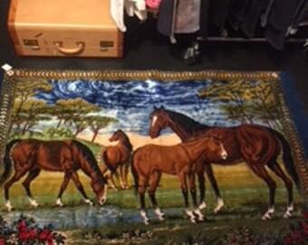 Vintage Horses Carpets