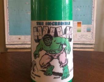 Vintage 1978 The Incredible Hulk Thermos - Nice Condition