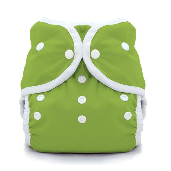 Thirsties Duo Wrap in Grass Green, Available in Snap or Hook and Loop Closure