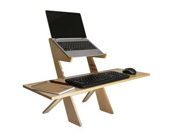 Alto  Standing Desk Extended Tray, Birch, EXTRA LARGE