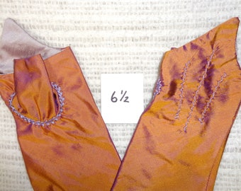 18th Century Size _6-1/2_ Ladies Colonial Silk Mitts  # 6.5