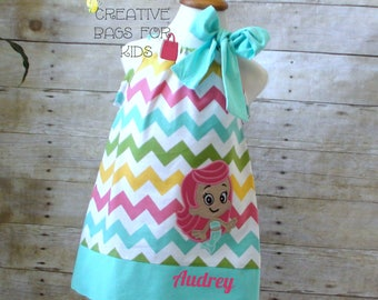 Bubble Guppies Dress/ Personalized Bubble Guppies Dress/ Bubble Guppies Birthday Dress (matching bag available)