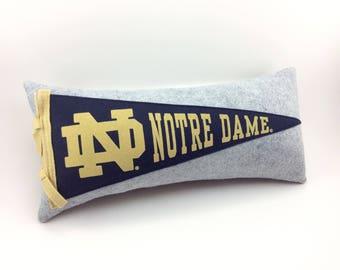 University of Notre Dame Fighting Irish ND Pennant Pillow