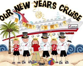 Carnival Royal Caribbean New Years Vacation Cruise Family Vacation shirt - Deluxe Pricing
