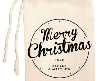 Christmas Gift Bags, Personalized Christmas Favor Bags, Holiday Bags,Custom Christmas Bags, Christmas Party Favor Bags, Holiday Party Favors