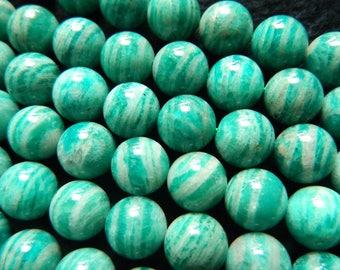 Natural Green Amazonite Beads, Amazonite Stone Beads, Gemstone Beads, Round Loose Beads 8mm 10mm 12mm 15''