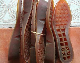 Soles natural for women's shoes US 7 1/2 and US 9 available shoe making