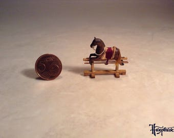 Miniature rocking horse made of wood - Item number: MRH1 brown
