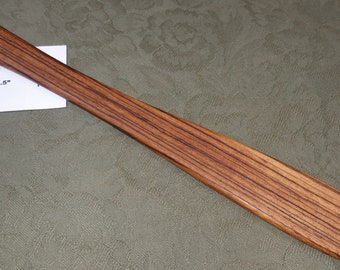 Zebrawood Miss Rose Paddles Exotic Hardwood Spatula Ruler Discipline Stick ZE120