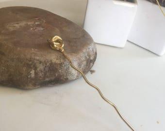 Brass hair pick/pin