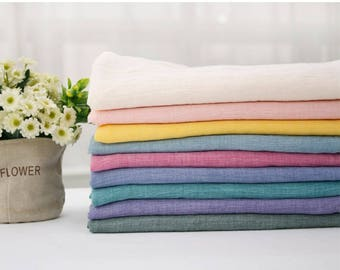 Washing Gauze Fabric 100% Cotton by the yard Korea Gauze fabrics Baby Blanket _Solid_CH980808