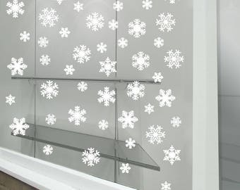 Christmas Xmas Snow Flakes Display Shop Window Decorations Decals Stickers A289
