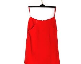 Vintage Red Chanel Skirt