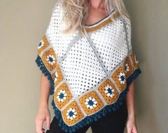 The Caposhi Poncho - Crochet Poncho