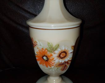 Vintage Flowered Covered Candy Dish