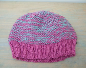 Beanie Hat - Knit Hat - Wool Beanie - Chunky Knitted Hat - Chunky Knit Beanie - Knit Beanie Hat - Knitted Beanie - Pink Hat - Gifts for Her
