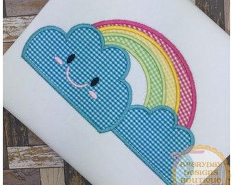 Rainbow Machine Embroidery Applique Design
