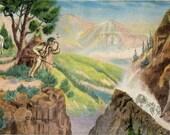 On the Frontier – Western L. H. Dude Larsen Vintage Postcard 1939 (unused)