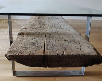 Glass Coffee Table. Reclaimed Wood Coffee Table. Metal Legs Coffee Table. Industrial Coffee Table. Barn Wood Furniture.