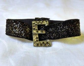 Bling-E Black Wrist Belt