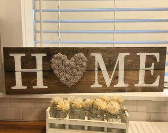 HOME Sign Rustic Wall Decor LOVE Shabby Chic Home