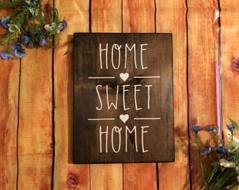 Home Sweet Home 10 x 12 Wood Sign