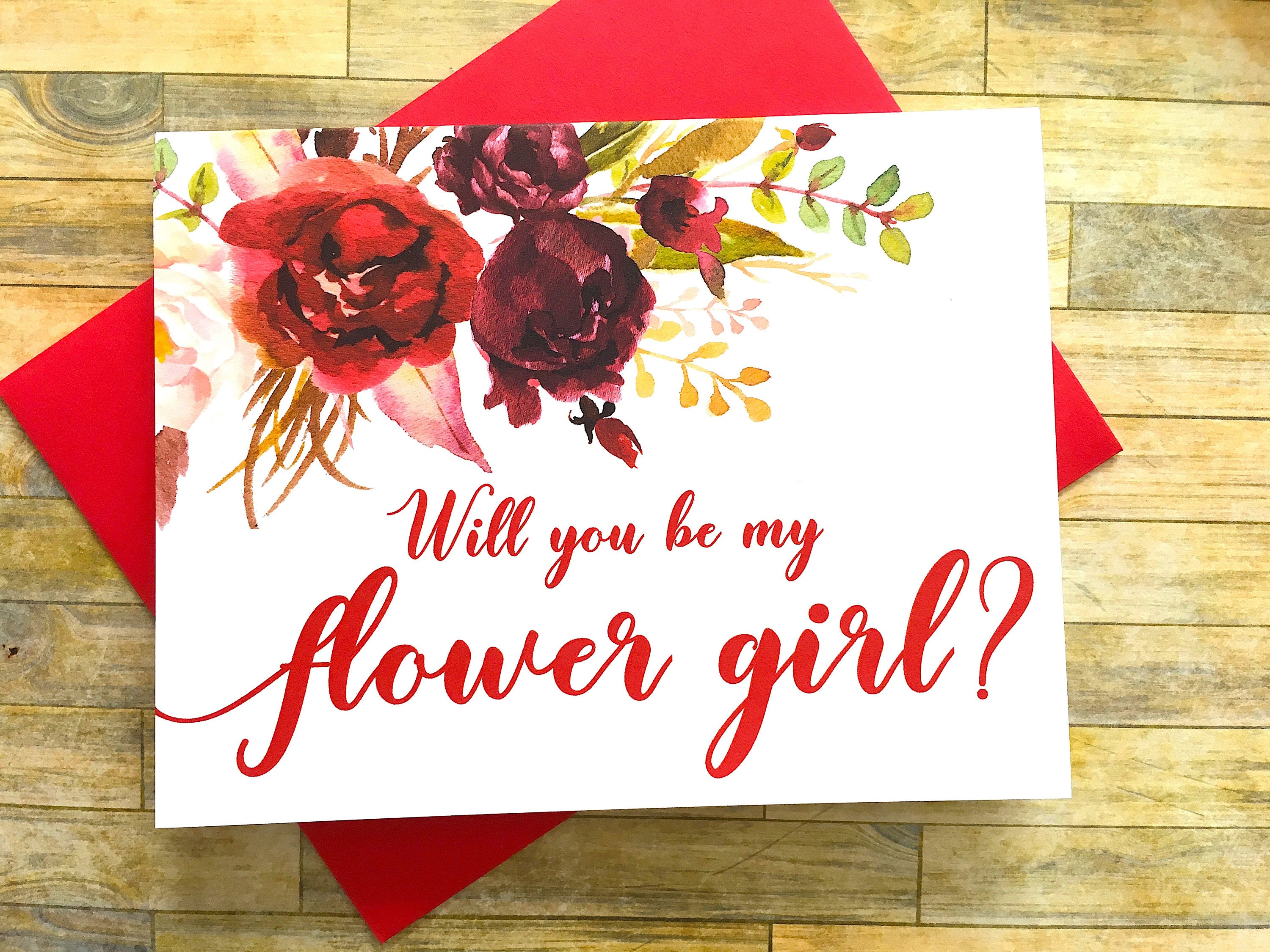 Flower Girl Proposal Card - Will You Be My Flower Girl Card ...