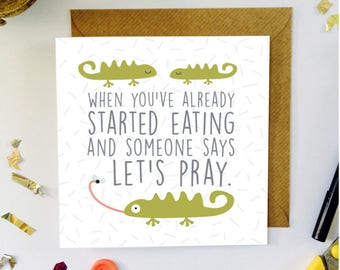 Funny Christian Illustrated Card