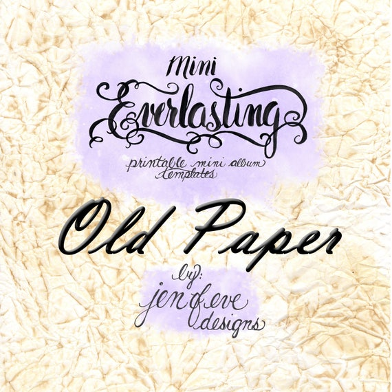 Mini Everlasting Printable Mini album Template in Old Paper and PLAIN