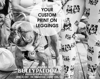 Personalized Womens Leggings, Dog Mom Gift, Custom Print Leggings, Personalised Gift For Her, Customised Womens Tights, Wife Birthday Gift