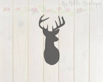 Deer head SVG, PNG, DXF files, instant download