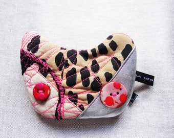 Mini-Pochette cat.  mixed cotton leopard