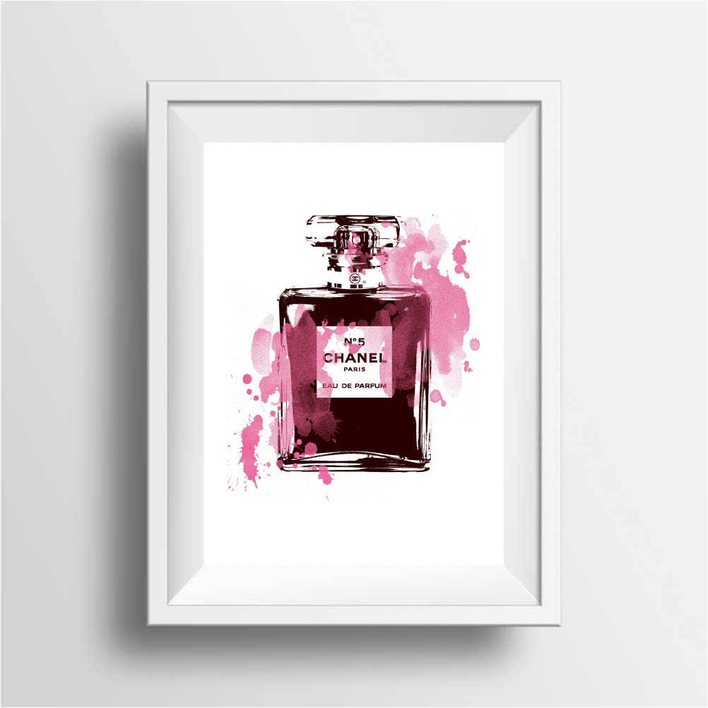Fashion Wall Art Amusing Fashion Illustration Poster Art Print Giclee 8X10 A4 A3 Perfume Design Inspiration