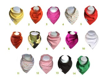 Organic baby dribble bibs. Soft, Reversible, bandana dribble Bibs for Babies - 5 Pack - Mia Bambina - Choose your own designs!