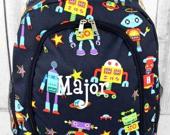 Backpack and Lunchbox Set, Boy's Backpack Set, Lunchbox Set, Monogram Backpack, Robots, Back To School, Monogrammed Backpack, Pre K Backpack