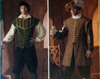 Simplicity Sewing Pattern 4059 Men's Costumes, A (XS, S, M, L, XL), Renaissance Pattern, Doublet Pattern, Sewing Pattern