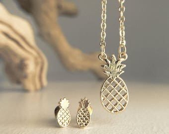Be a Pineapple Necklace stand tall wear a crown and be sweet on the inside encouragement jewelry