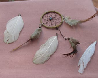 Boho Salvaged Dream Catcher Feathers Lot