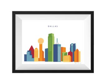 Dallas Texas Skyline Print