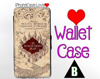 iPhone 6S Case - iPhone 6S Wallet Case - iphone 6S - iPhone 6S Wallet - Harry Potter iphone 6S case - Marauder Map iphone 6S case