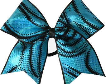 Cosmic Turquoise Blue Cheer Bow