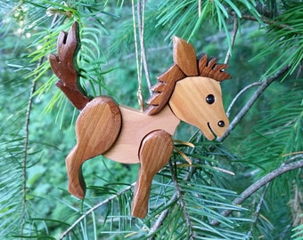 Donkey Christmas Ornament.