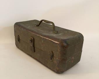 1930s All Copper Tackle/Utility Box